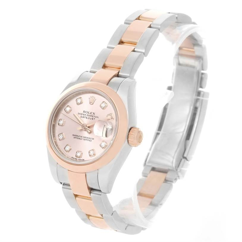 64e989177a00 ... 12058 Rolex Datejust Ladies Steel Rose Gold Diamond Watch 179161 Box  Papers SwissWatchExpo ...