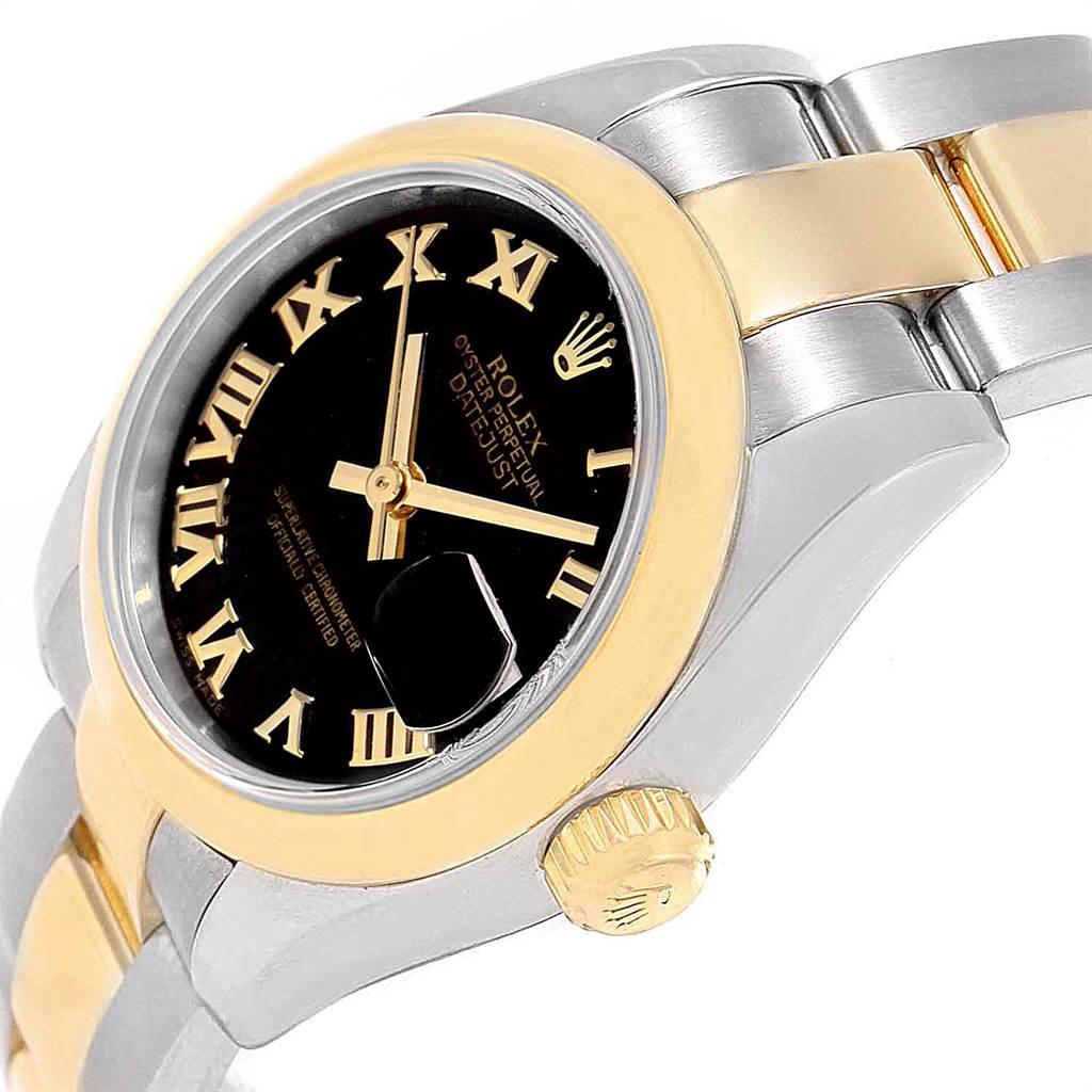 Rolex Datejust 26 Steel Yellow Gold Black Dial Ladies Watch 179163 Box Card SwissWatchExpo
