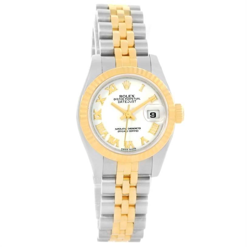Rolex Datejust Steel Yellow Gold White Dial Watch 179173 Year 2015 SwissWatchExpo