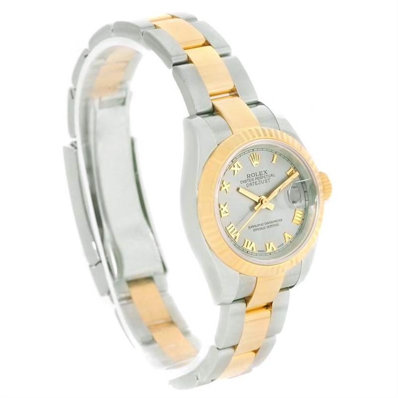 Rolex Datejust Steel Yellow Gold Silver Roman Dial Watch 179173 Unworn SwissWatchExpo