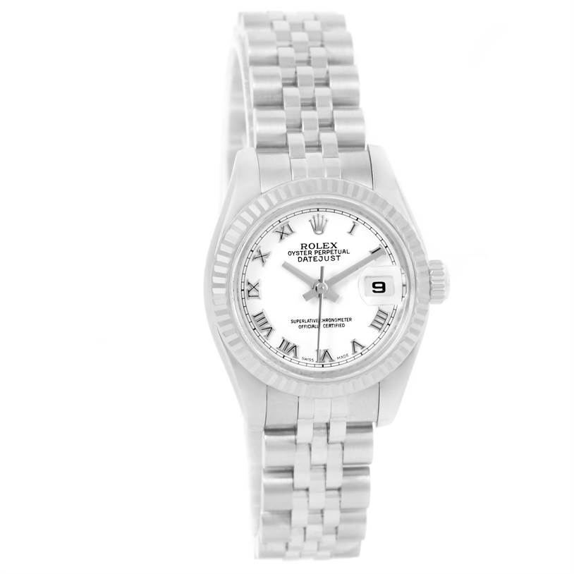 13040 Rolex Datejust Steel 18K White Gold Ladies Watch 179174 Box Papers SwissWatchExpo