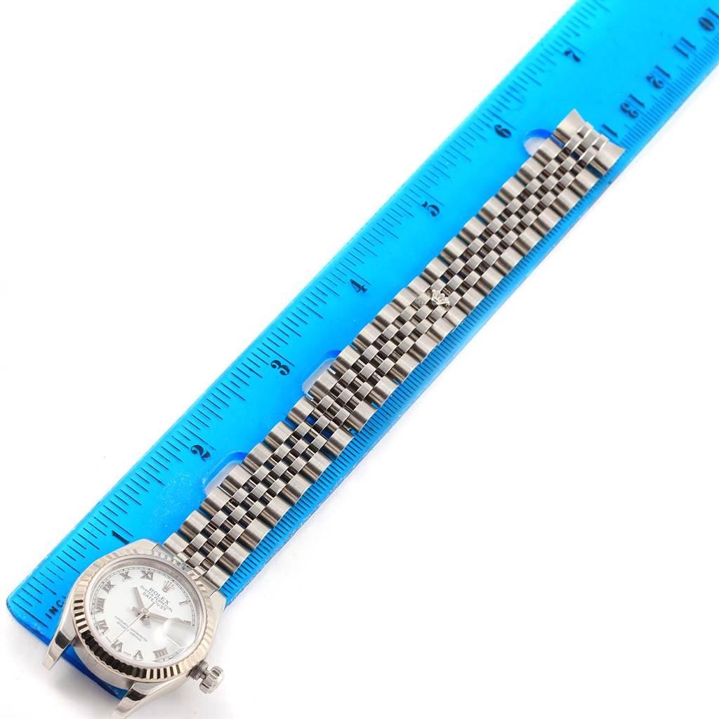 13040 Rolex Datejust Steel 18K White Gold Ladies Watch 179174 Box Papers SwissWatchExpo