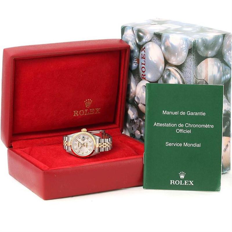Rolex Datejust Steel Yellow Gold Jubilee Diamond Dial Ladies Watch 79173 SwissWatchExpo