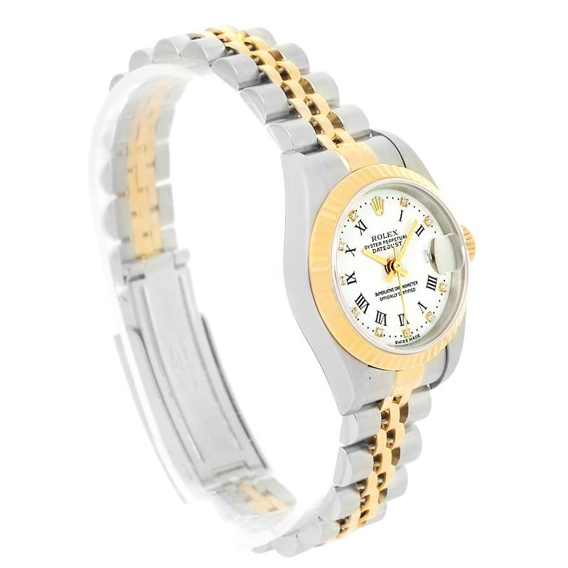 Rolex Datejust Steel Yellow Gold Roman Diamond Dial Ladies Watch 79173 SwissWatchExpo