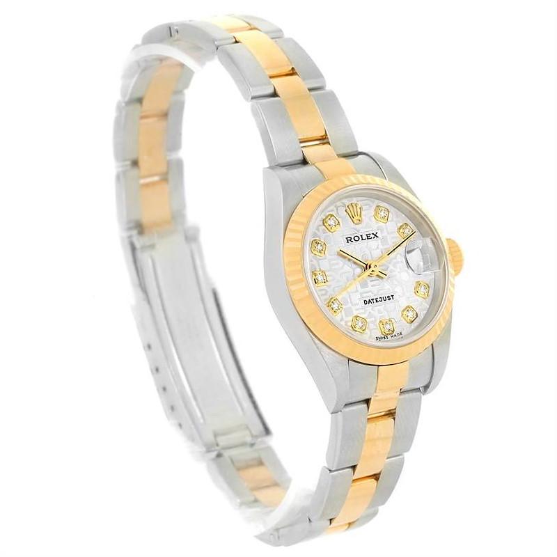 Rolex Datejust Steel Yellow Gold Jubilee Diamond Dial Watch 79173 SwissWatchExpo