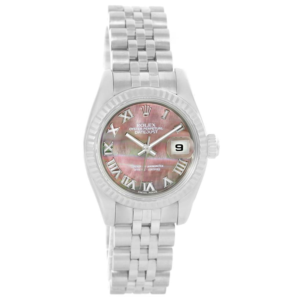 13331 Rolex Datejust Steel White Gold Mother of Pearl Ladies Watch 179174 SwissWatchExpo