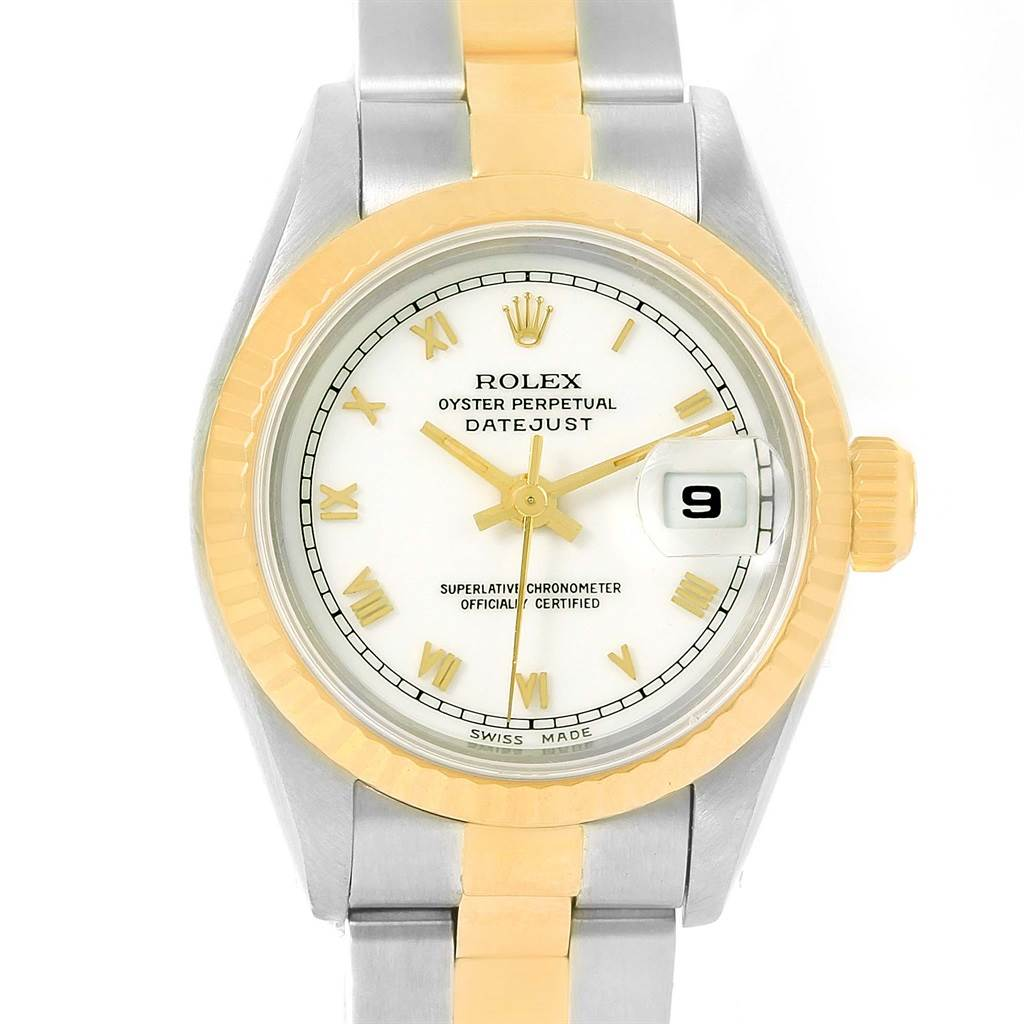 13302 Rolex Datejust Steel 18k Yellow Gold Automatic Ladies Watch 69173 SwissWatchExpo