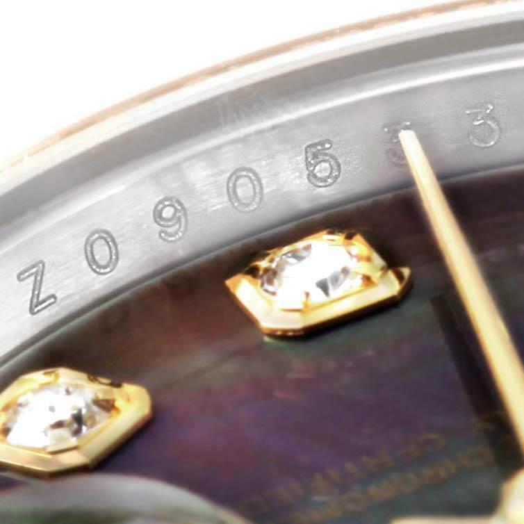 Rolex Datejust 26 Steel Yellow Gold MOP Diamond Ladies Watch 179163 Box Papers SwissWatchExpo