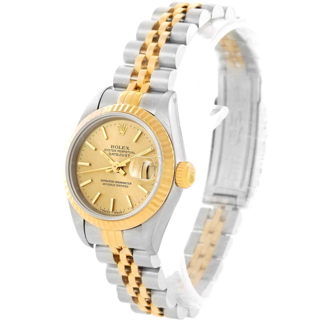 14400 Rolex Datejust Steel 18K Yellow Gold Ladies Watch 79173 Box Papers SwissWatchExpo