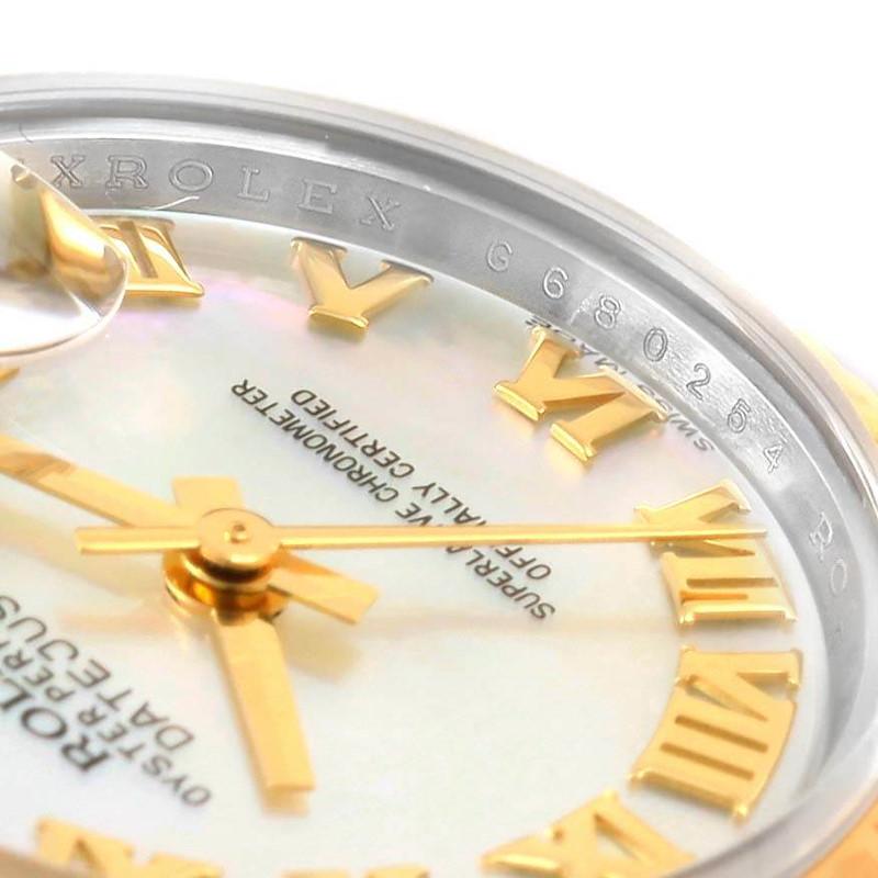 Rolex Datejust Steel Yellow Gold Mother of Pearl Ladies Watch 179173 SwissWatchExpo