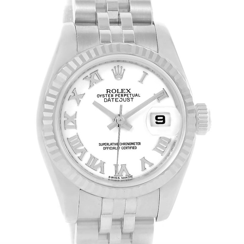 Rolex Datejust Steel White Gold White Dial Ladies Watch 179174 Box Papers SwissWatchExpo