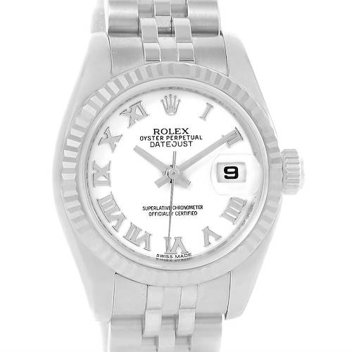 Photo of Rolex Datejust Steel White Gold White Dial Ladies Watch 179174 Box Papers