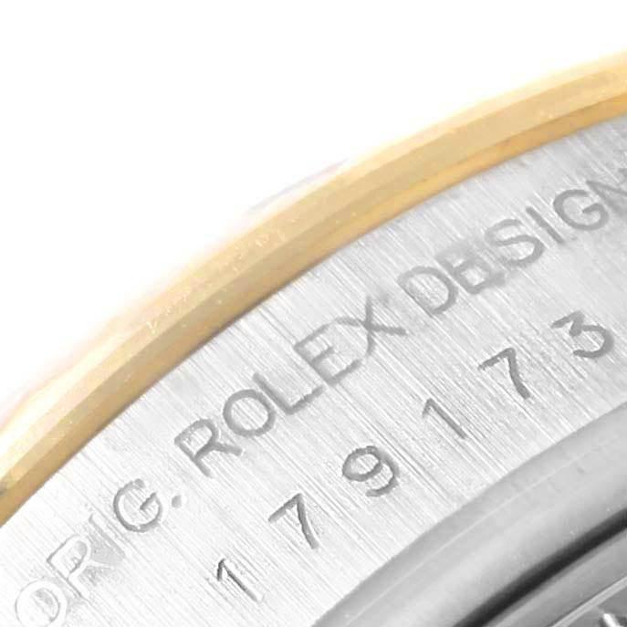 Rolex Datejust 26 Ladies Steel Yellow Gold Blue Dial Watch 179173 SwissWatchExpo