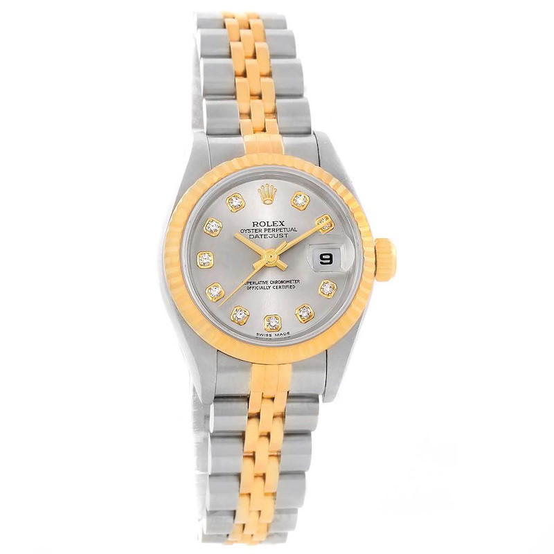 Rolex Datejust Steel Yellow Gold Diamond Ladies Watch 79173 SwissWatchExpo