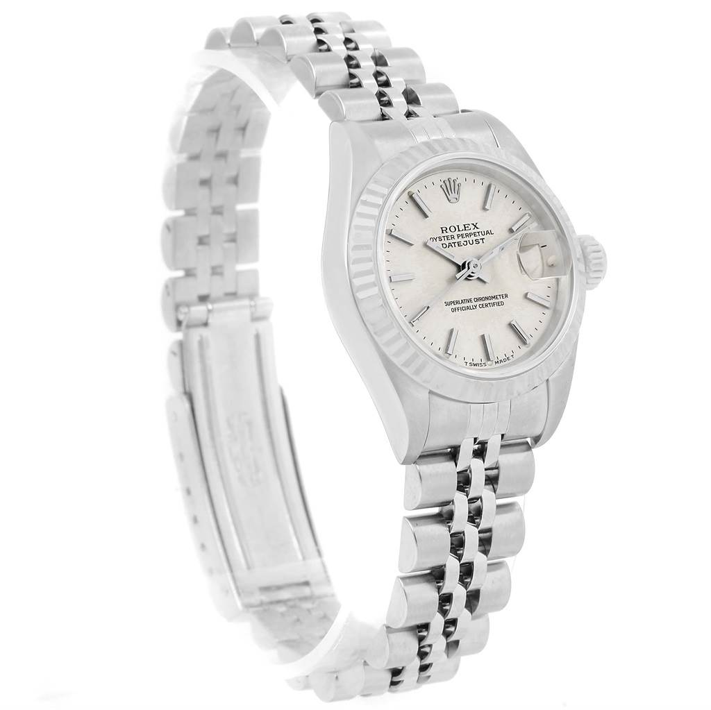 Rolex Datejust 26mm Steel White Gold Silver Dial Ladies Watch 69174 SwissWatchExpo