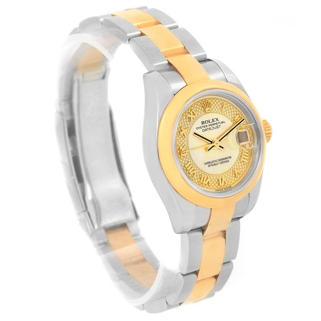 Rolex Datejust 26mm Steel Yellow Gold Decorated MOP Watch 179163 Unworn SwissWatchExpo