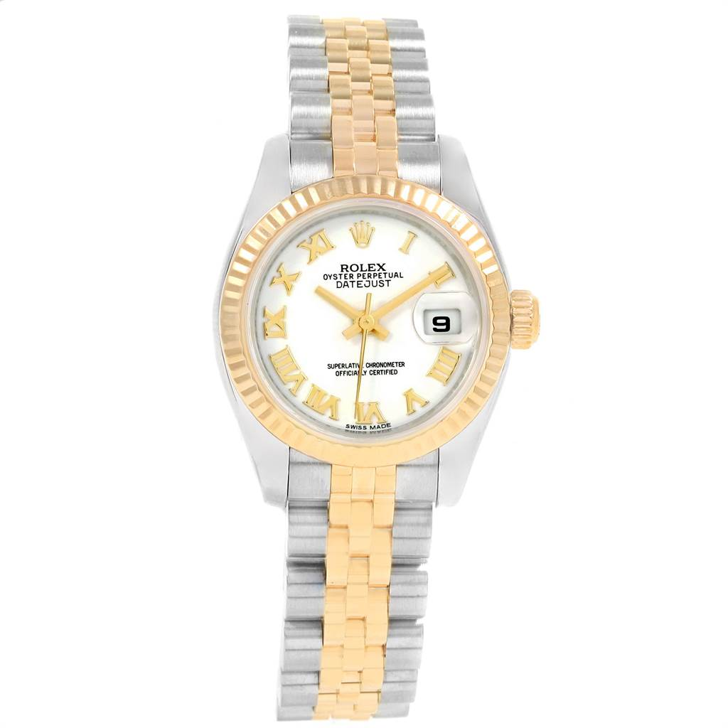 698be1c987bc ... 13320 Rolex Datejust 26mm Steel Yellow Gold White Dial Ladies Watch  179173 SwissWatchExpo ...