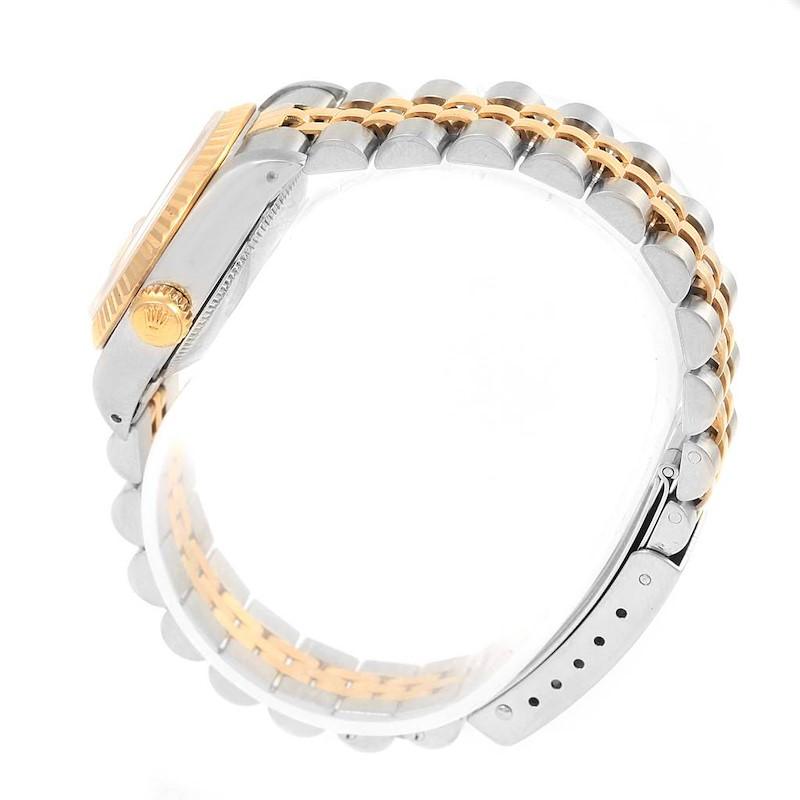 Rolex Datejust Steel Yellow Gold Fluted Bezel 26mm Ladies Watch 69173 SwissWatchExpo