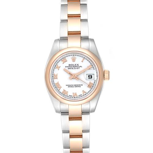 Photo of Rolex Datejust Steel EverRose Gold White Dial Ladies Watch 179161 Box Card