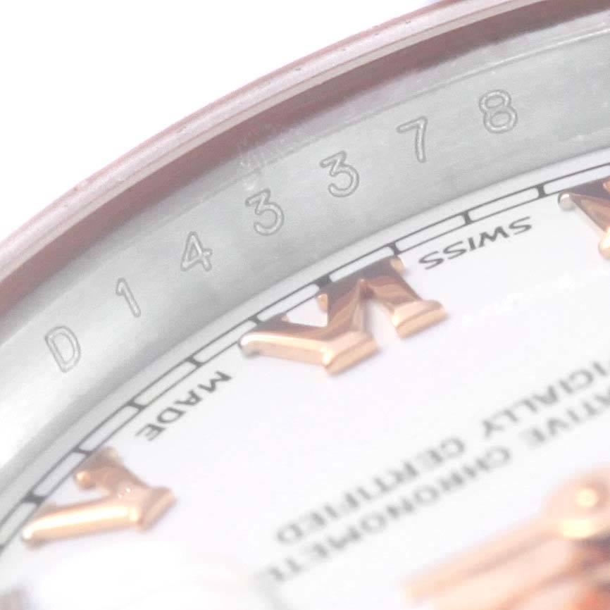 Rolex Datejust Steel EverRose Gold White Dial Ladies Watch 179161 Box Card SwissWatchExpo
