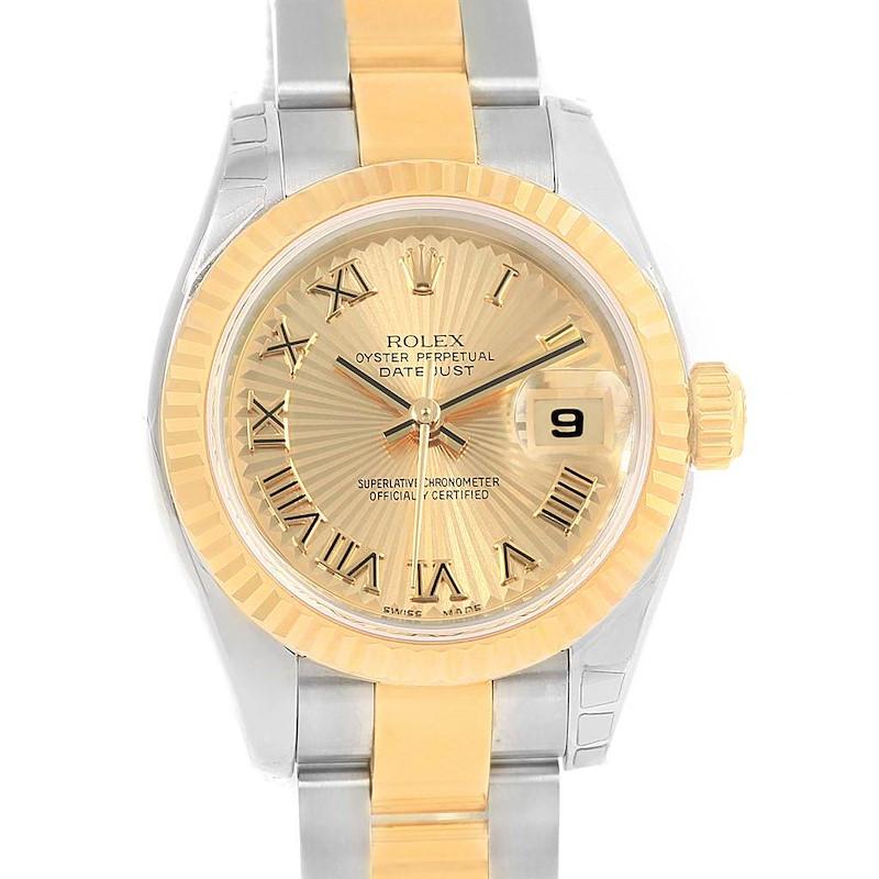 Rolex Datejust Steel Yellow Gold Sunray Dial Ladies Watch 179173 Unworn SwissWatchExpo