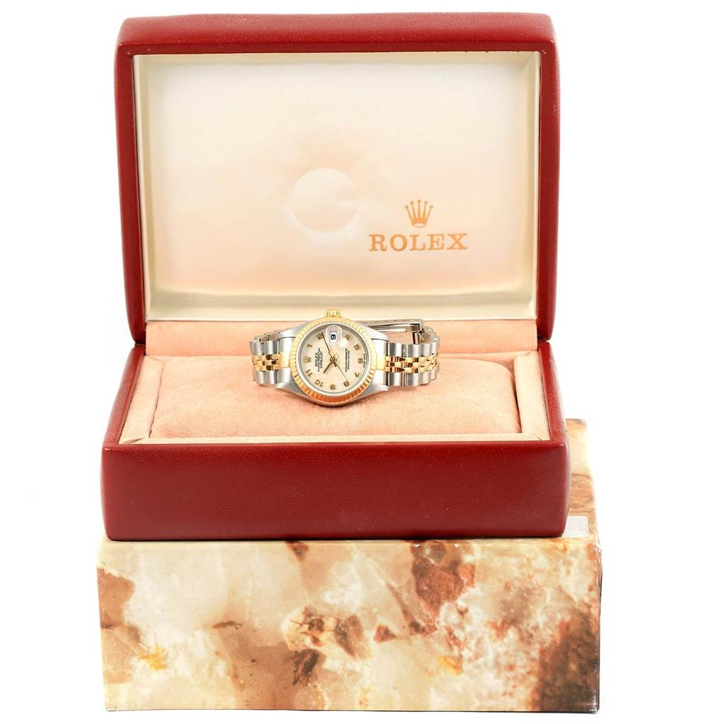Rolex Datejust Steel Yellow Gold Ivory Jubilee Dial Ladies Watch 79173 SwissWatchExpo