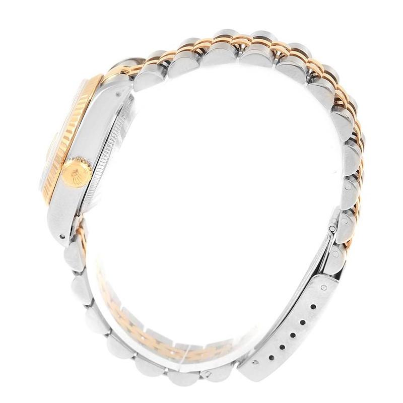 Rolex Datejust 26 Steel Yellow Gold Silver Baton Dial Ladies Watch 69173 SwissWatchExpo