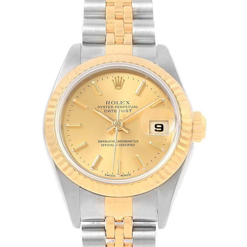 Rolex Datejust Steel Yellow Gold Ladies Watch 79173 Box Papers SwissWatchExpo