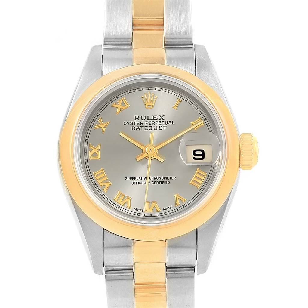 039da4be3ed ... 16202 Rolex Datejust Steel Yellow Gold Slate Dial Ladies Watch 69163  Box Papers SwissWatchExpo ...