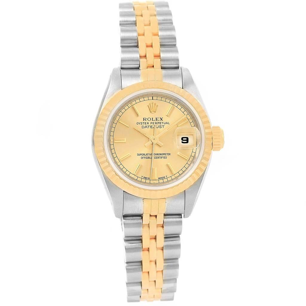 Rolex Datejust 26 Steel Yellow Gold Jubilee Bracelet Ladies Watch 69173 SwissWatchExpo