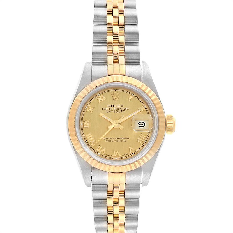 Rolex Datejust 26 Steel Yellow Gold Roman Dial Ladies Watch 69173 SwissWatchExpo
