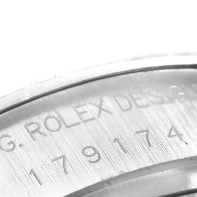 Rolex Datejust 26 Tahitian MOP Diamond Ladies Watch 179174 Box Papers SwissWatchExpo