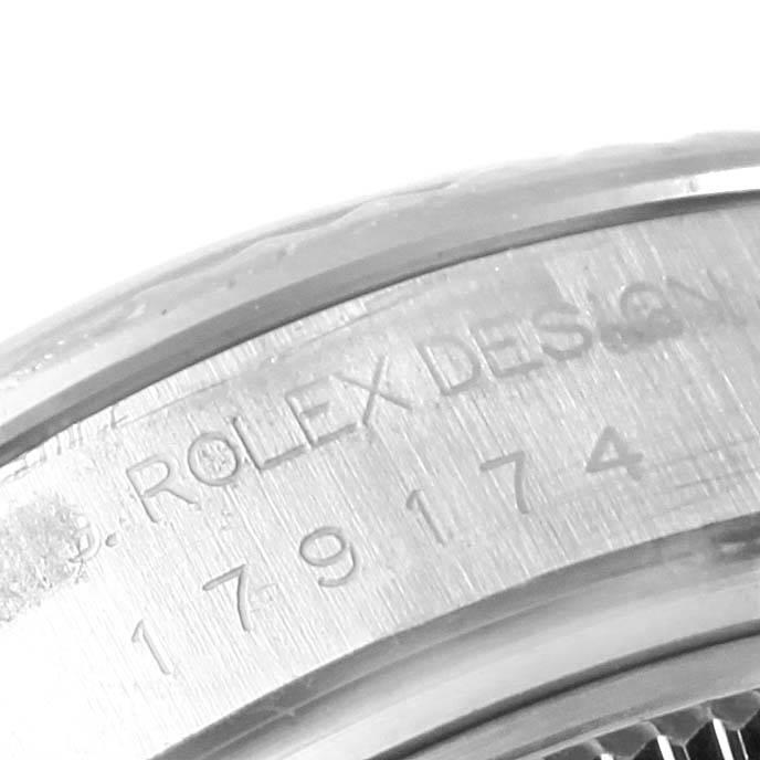 13933 Rolex Datejust 26 Steel White Gold MOP Ladies Watch 179174 Box Papers SwissWatchExpo