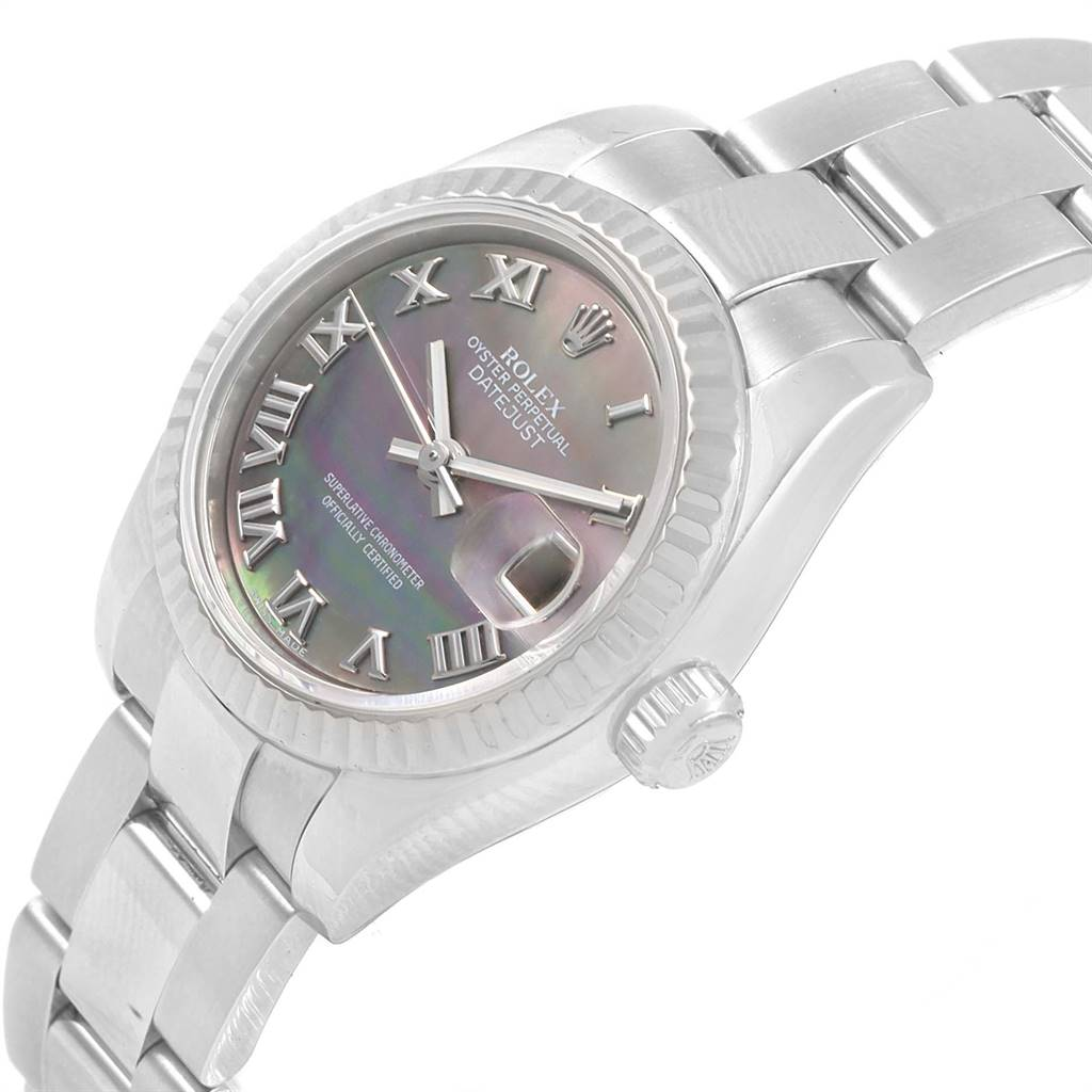 Rolex Datejust 26 Steel White Gold MOP Ladies Watch 179174 Box Papers SwissWatchExpo