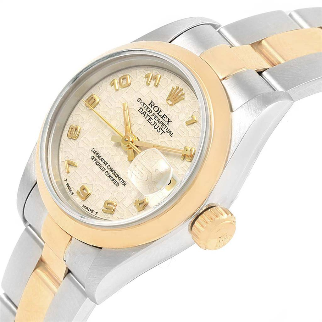 16669 Rolex Datejust Steel Yellow Gold Jubilee Arabic Dial Ladies Watch 69163 SwissWatchExpo