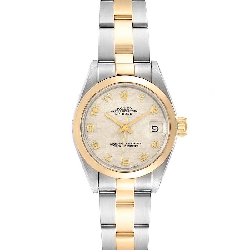 Rolex Datejust Steel Yellow Gold Jubilee Arabic Dial Ladies Watch 69163 SwissWatchExpo