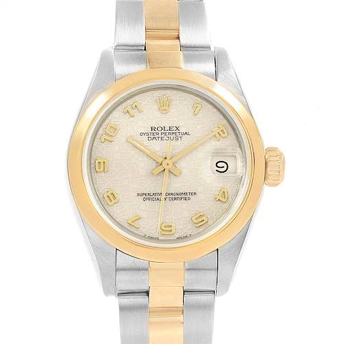 Photo of Rolex Datejust Steel Yellow Gold Jubilee Arabic Dial Ladies Watch 69163
