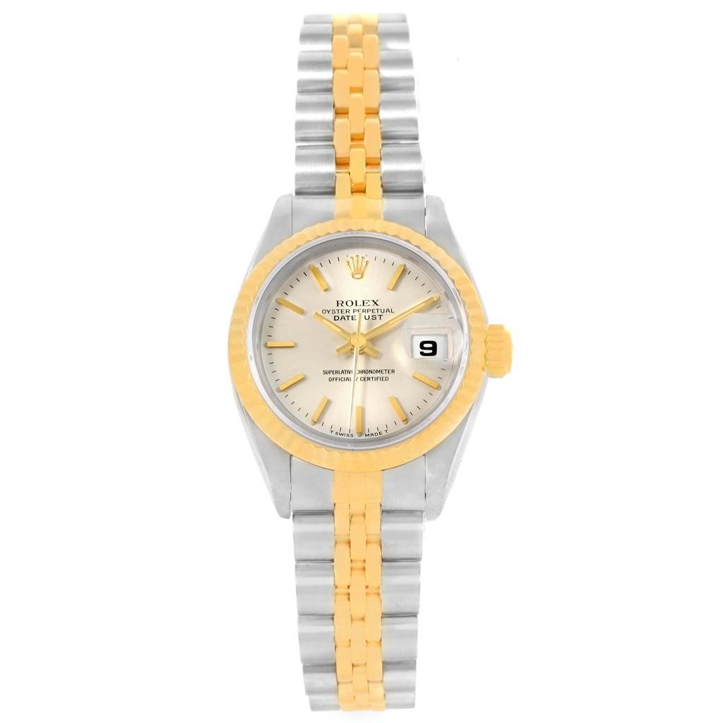 Rolex Datejust Steel Yellow Gold Silver Dial Ladies Watch 69173 SwissWatchExpo