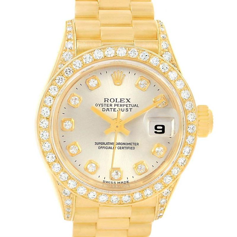 Rolex President Datejust Yellow Gold Diamond Ladies Watch 69238 SwissWatchExpo