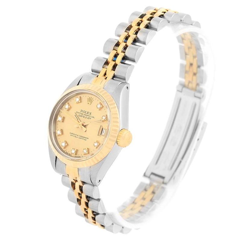 Rolex Datejust Steel Yellow Gold Diamond Ladies Watch 6917 SwissWatchExpo