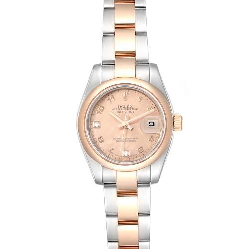 Photo of Rolex Datejust 26 Steel EveRose Gold Rose Diamond Dial Ladies Watch 179161