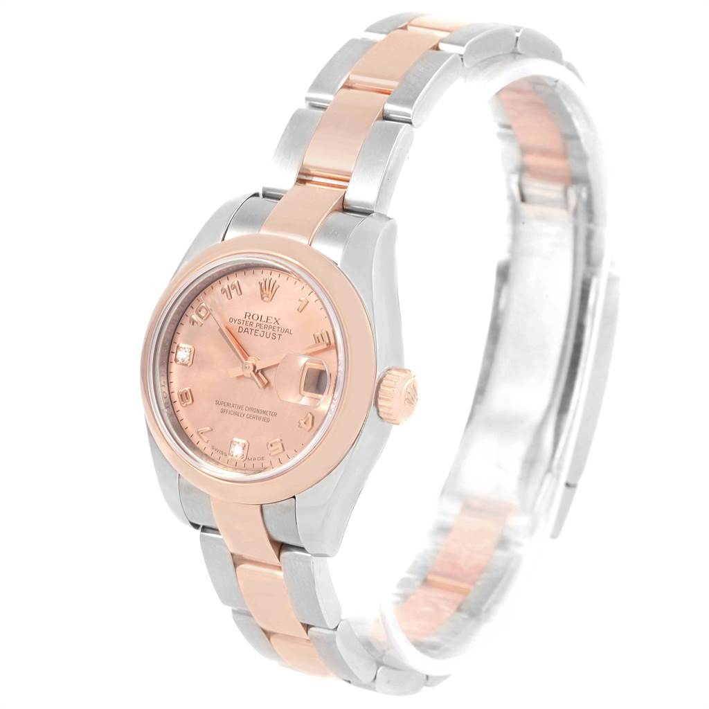 16996 Rolex Datejust 26 Steel EveRose Gold Rose Diamond Dial Ladies Watch 179161 SwissWatchExpo