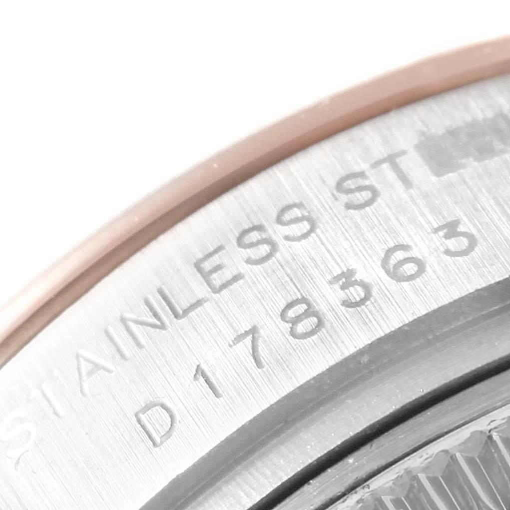 Rolex Datejust 26 Steel EveRose Gold Rose Diamond Dial Ladies Watch 179161 SwissWatchExpo