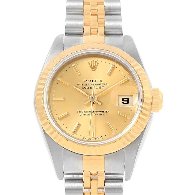 Rolex Datejust 26 Steel Yellow Gold Jubilee Bracelet Ladies Watch 79173 SwissWatchExpo