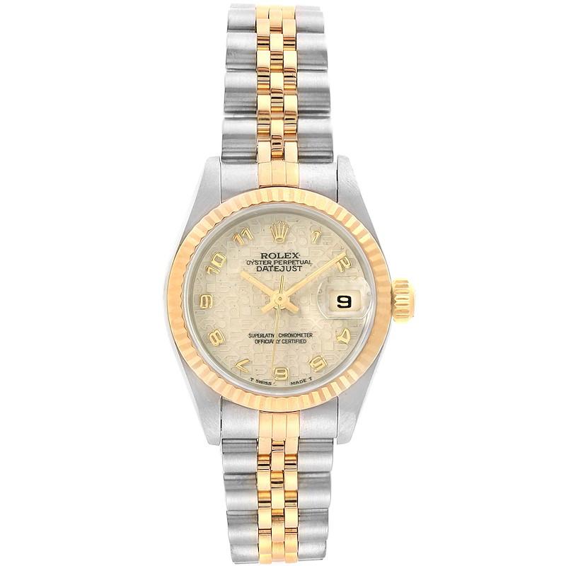 Rolex Datejust Steel Yellow Gold Ivory Jubilee Dial Ladies Watch 69173 SwissWatchExpo