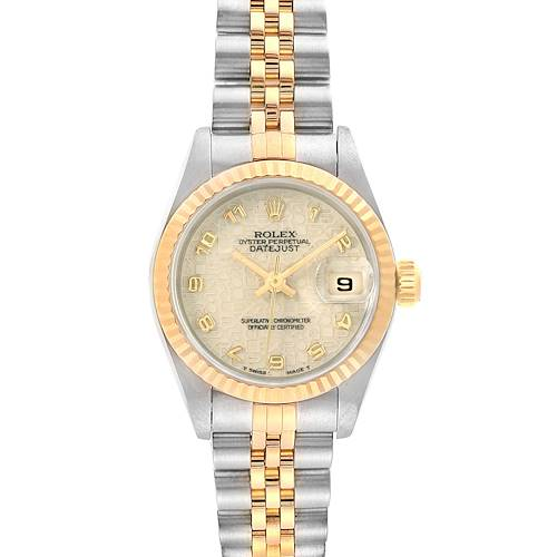 Photo of Rolex Datejust Steel Yellow Gold Ivory Jubilee Dial Ladies Watch 69173