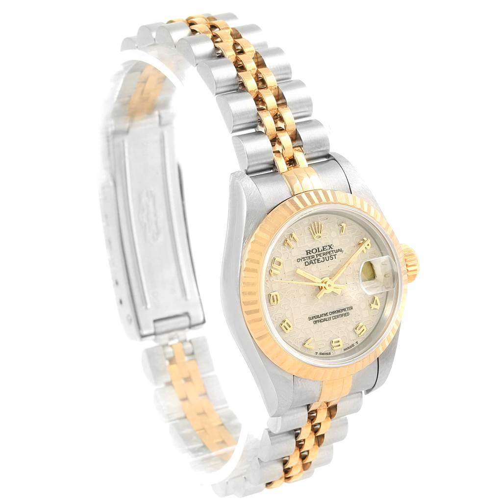 16611 Rolex Datejust Steel Yellow Gold Ivory Jubilee Dial Ladies Watch 69173 SwissWatchExpo