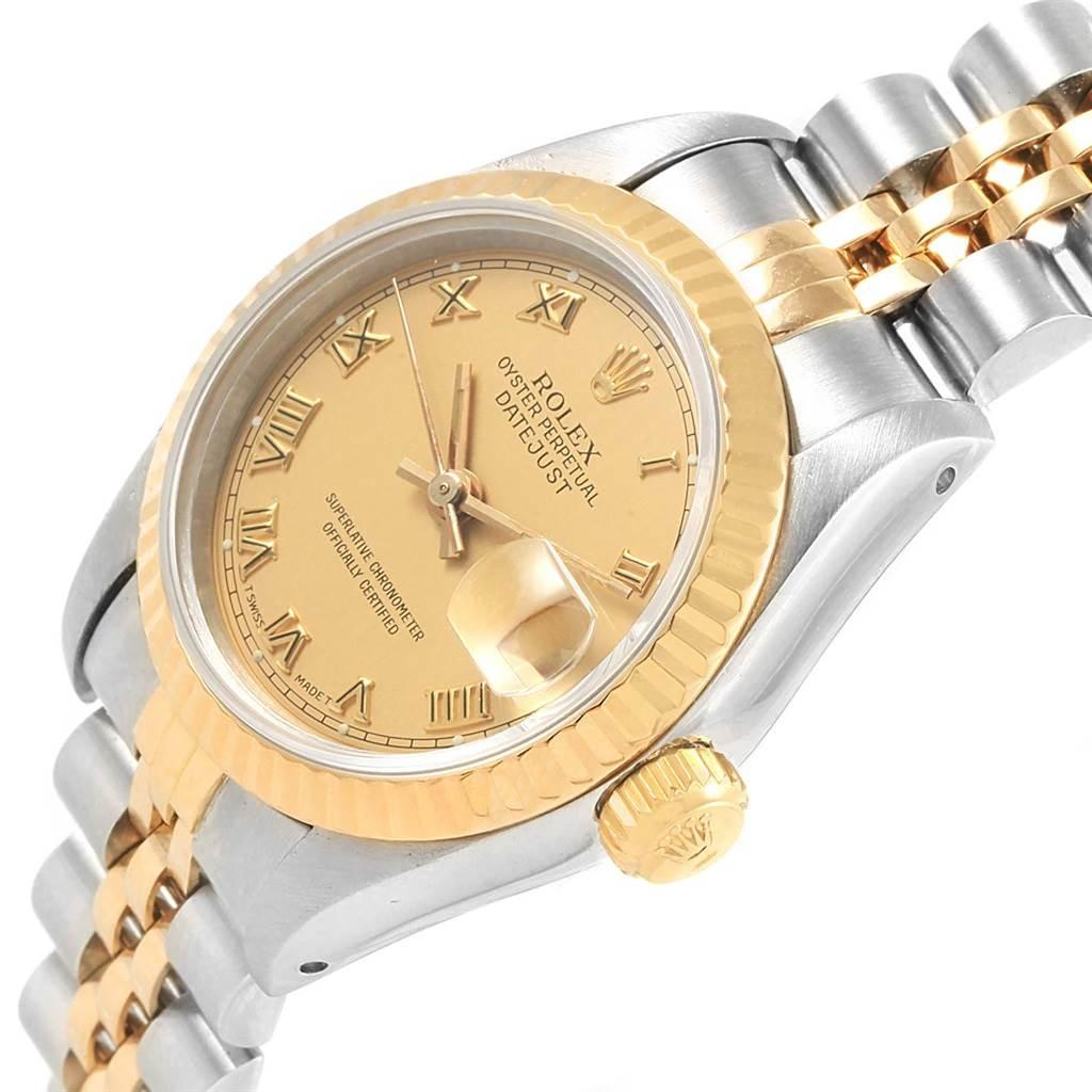 Rolex Datejust Steel Yellow Gold Roman Dial Ladies Watch 69163 SwissWatchExpo