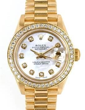 Photo of Rolex Ladies 18k Gold Diamond President Datejust 69178
