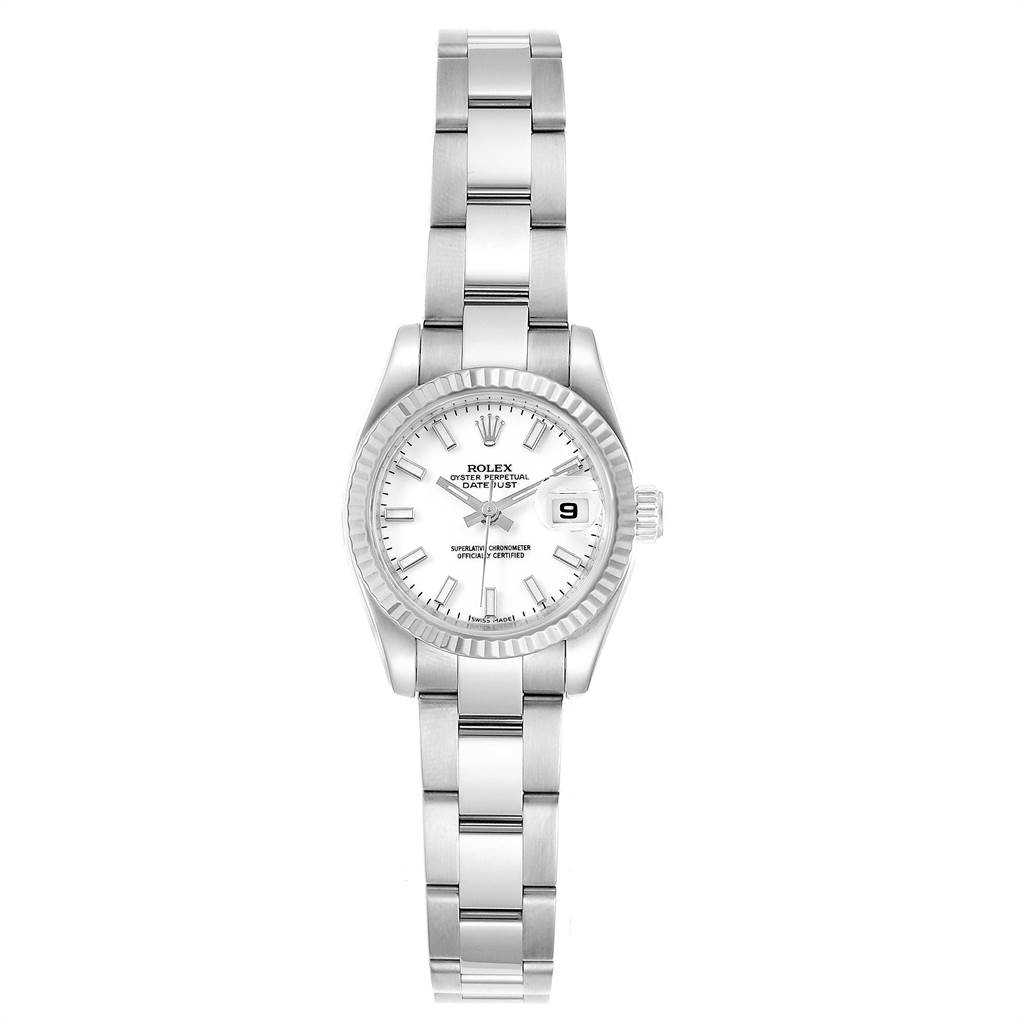 Rolex Datejust 26 Steel White Gold Oyster Bracelet Ladies Watch 179174 SwissWatchExpo
